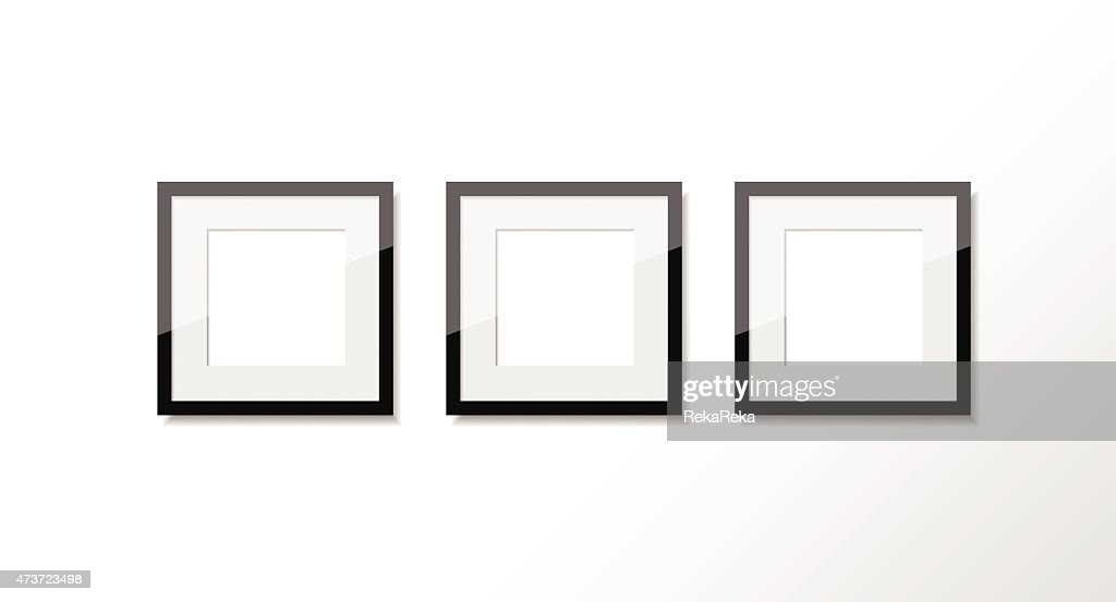 Set Of Three Square Shaped Photo Frames Vector Art | Getty Images