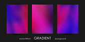 Set of Trendy Gradient Backgrounds for Cover, Flyer, Brochure, Poster, Wedding Invitation, Wallpaper, Backdrop Business Design