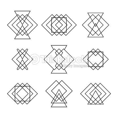 jeu de mode de hipster formes g om triques ethnique tatouage forme g om trique clipart vectoriel. Black Bedroom Furniture Sets. Home Design Ideas