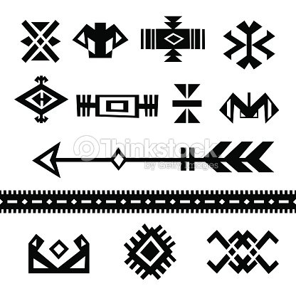 Set Of Tribal Symbols Vector Art Thinkstock