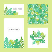 Set of tropical template. Tropical theme. Vector goods