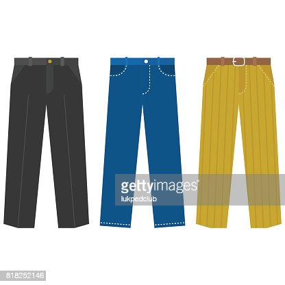 Set of trousers for  Business man : stock vector