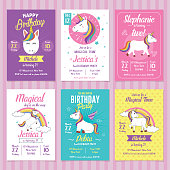 Card, label and poster for printing. Invitation for kids party