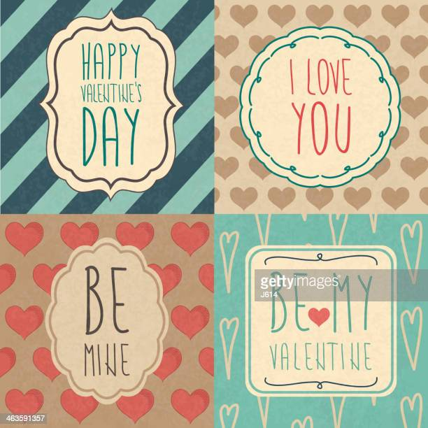 A set of Valentine's Day cards