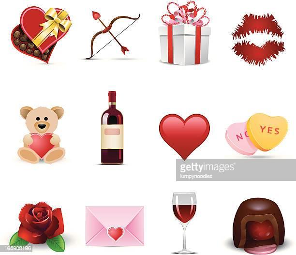 Set of Valentine's Day celebration icons
