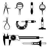 Vector illustrations of measuring instrument