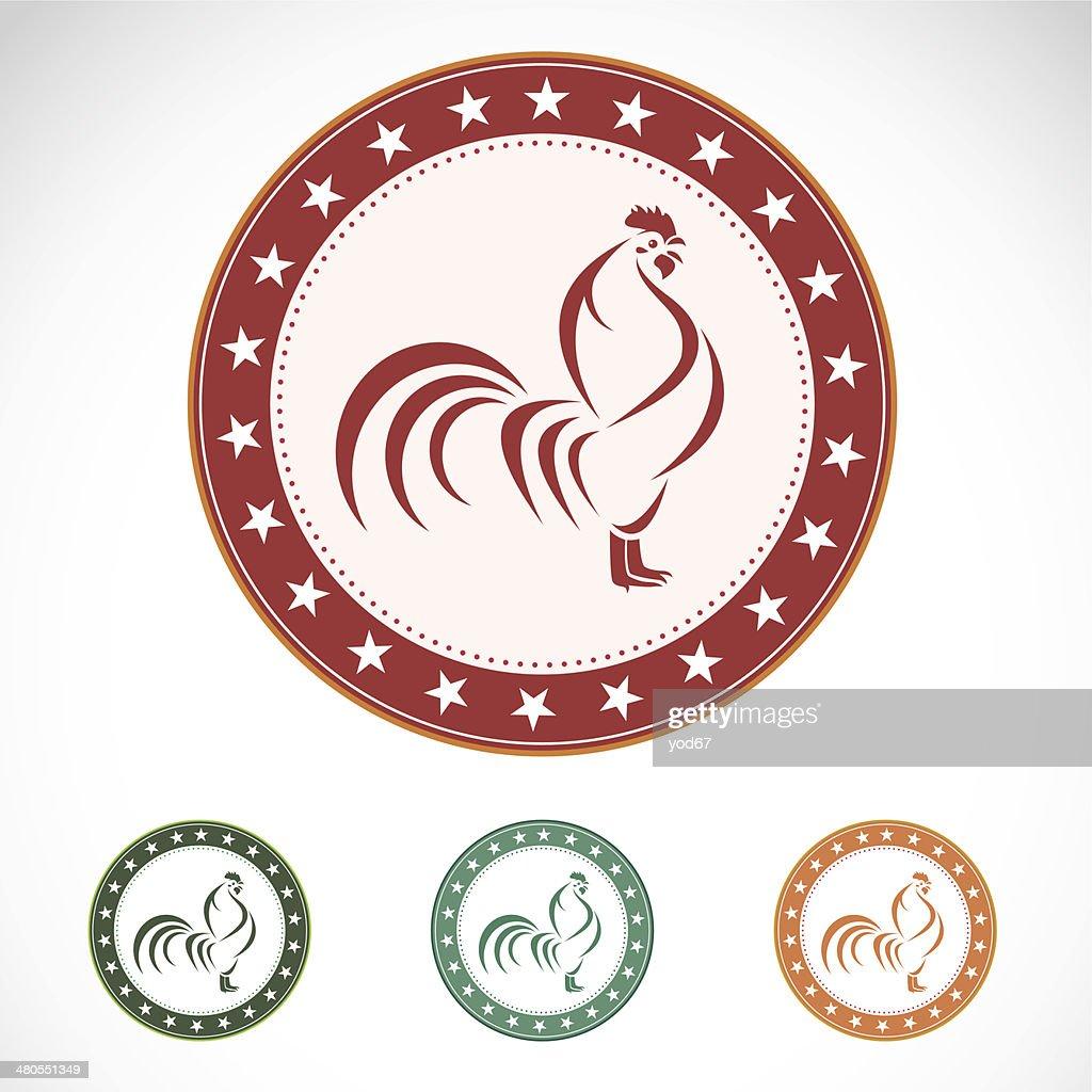 Set of vector cock label : Vector Art