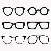 A set of vector glasses frames.