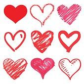 heart series vector set