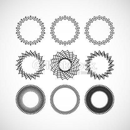 Set Of Vector Lace Frames Design Templates Vector Art | Thinkstock