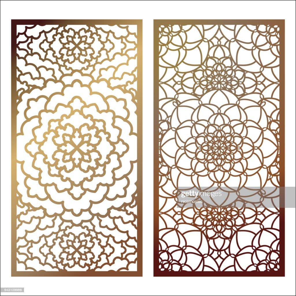 Wandpaneele Oder Partition. Puzzle Würfel Schneiden Ornamente. Lacy  Ausschnitt Silhouette Schablonen. Laubsägearbeiten Orientalische  Blumenmuster Mit ...