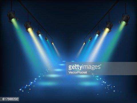 Set of vector scenic spotlights : stock vector