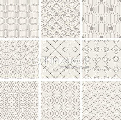 ensemble dillustration vectorielle motif sans couture. Black Bedroom Furniture Sets. Home Design Ideas