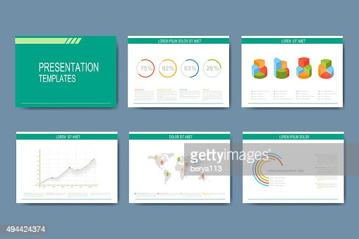 set of vector templates for presentation slides modern business, Presentation templates
