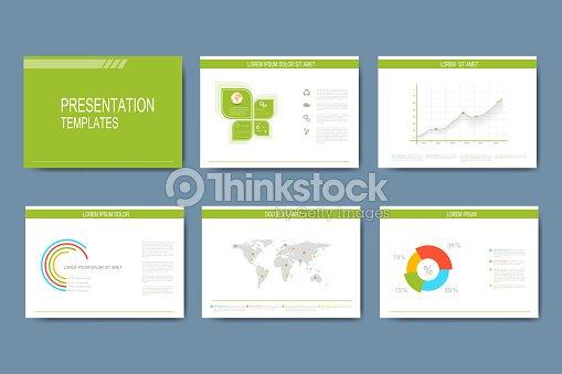Set Of Vector Templates For Presentation Slides Modern Business ...
