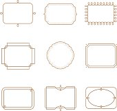 Vector elements. Can be use for page decoration, price tag and etc