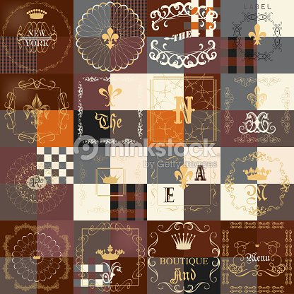 Set of vintage frames for luxury labels icons boutique cafe set of vintage frames for luxury labels icons boutique cafe restaurant menu business cards royal templates set reheart Choice Image