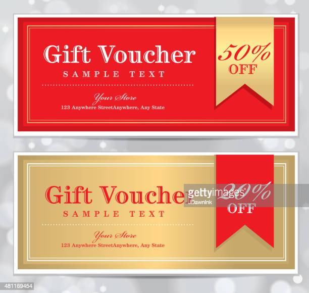 Set of vintage Gift Certificate design templates