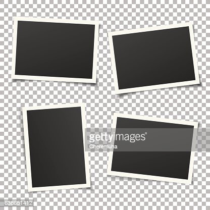 Set of vintage photo frames isolated on background. Vector eps. : Vector Art