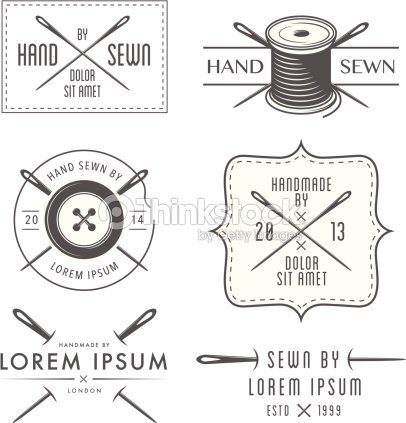 Set Of Vintage Tailor Labels And Emblems stock vector
