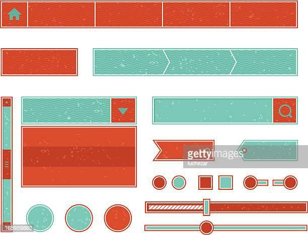 Conjunto de elementos vintage web