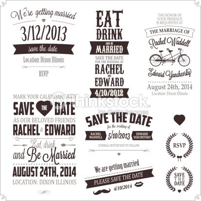 Set of wedding invitation vintage typographic design elements set of wedding invitation vintage typographic design elements vector art stopboris Image collections
