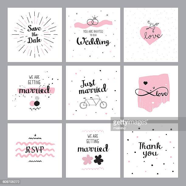 Set of wedding quotes