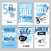 Vector illustrations of season online shopping website and mobile website banners, posters, newsletter designs, ads, coupons, social media banners.