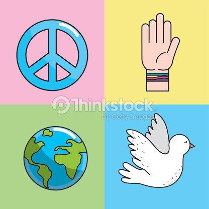 Set Peace Hand Symbol To Global Harmony Vector Art Thinkstock