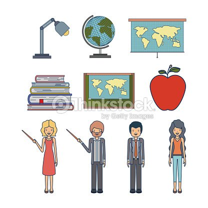 Set people teacher and element to teaching profession
