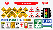 set road sign. easy to modify