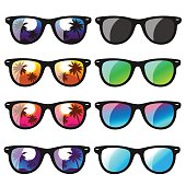 set sunglasses. vector illustration