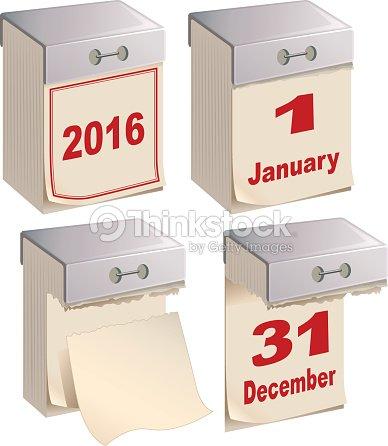Calendario A Strappo.Set Modello Di Calendario A Strappo Arte Vettoriale Thinkstock