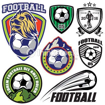 Conjunto plantilla de deportes logotipos y elementos de diseño de estilo de  fútbol americano   Arte fef8d758e2e1c