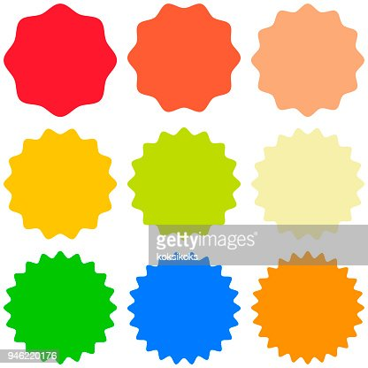 Set template sunburst, shapes badges vector starburst promo  burst, for design sticker promo burst : stock vector