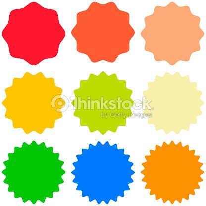 Set template sunburst, shapes badges vector starburst promo  burst, for design sticker promo burst : stock vector