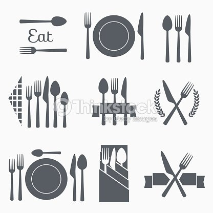 Set vector cutlery icons : stock vector