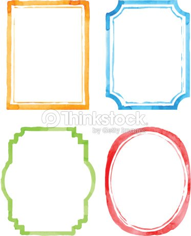 Set Vintage Artistic Frames Vector Art | Thinkstock