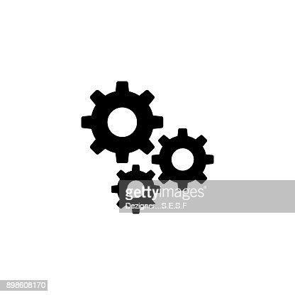 Settings gears vector icon : stock vector