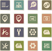 settings vector icons for web and user interface design
