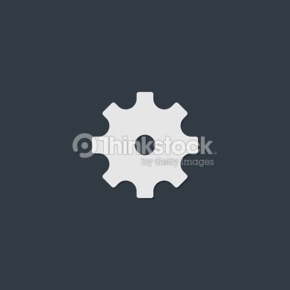 Settings Icon Vector Flat Design Vector Art | Thinkstock