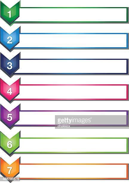 Sept chevron liste