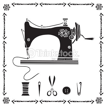 Ensemble de couture clipart vectoriel thinkstock - Machine a coudre dessin ...
