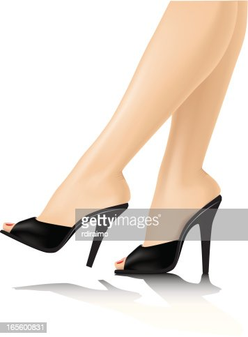 Sexy Legs With Black Heels Vector Art | Getty Images