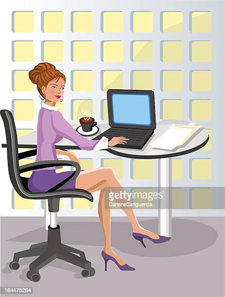 illustrations et dessins anim s de secr taire administrative getty images. Black Bedroom Furniture Sets. Home Design Ideas