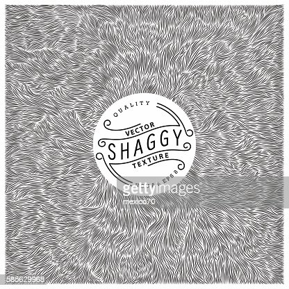 Shaggy texture : stock vector