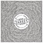 Shaggy texture. Simple and quality monochrome pattern. Unique vector illustration.  Ready for print, web and other design