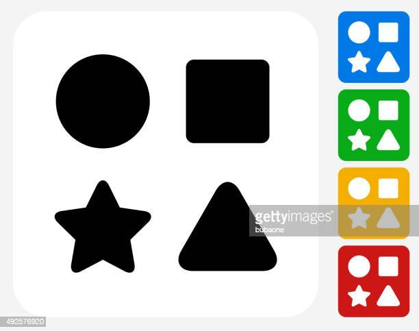 Shape Toys Icon Flat Graphic Design