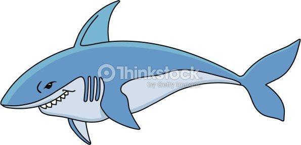 Ilustración Vectorial De Dibujos Animados De Tiburón