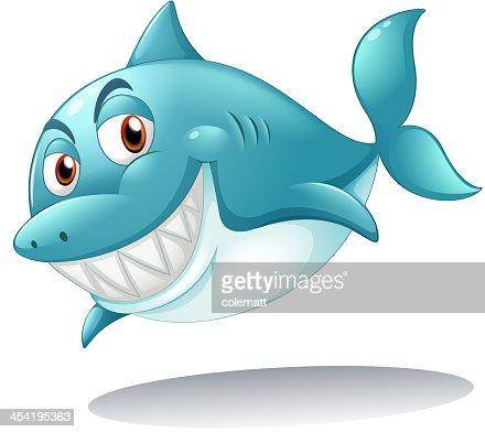 Tiburón Sonriendo : Arte vectorial
